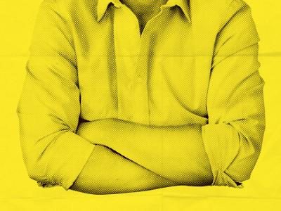Vintage vintage mono yellow