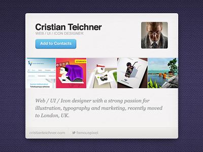 Little portfolio UI ui webapp texture wip