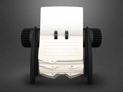 Rolodex illustration icon paper