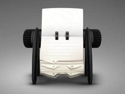 Rolodex Update icon illustration paper