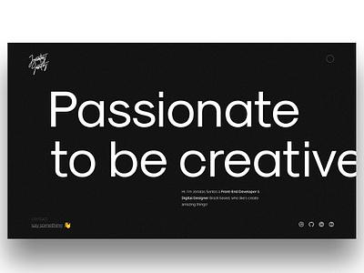 folio - 19 typography ux black portfolio ui minimalism