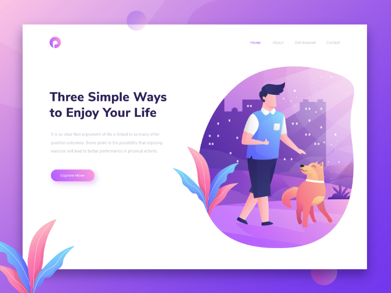 A sample landing page project that we've been working on landing page ui ux vector