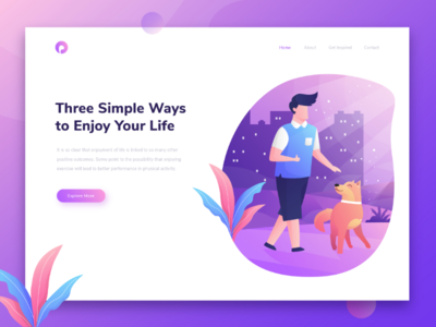 A sample landing page project that we've been working on