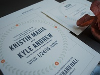 Kristin & Kyle Wedding Invite