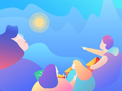 Illustration on APP app on illustration