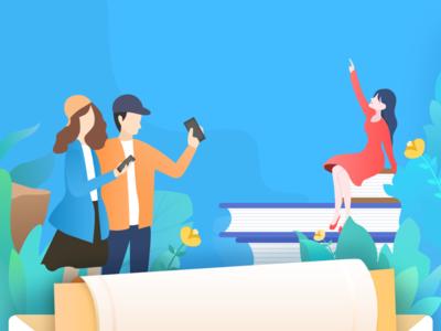 This is an illustration. app illustration ui