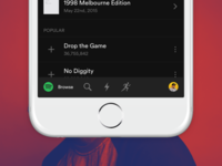Spotify for iPhone redesign #01
