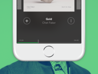 Spotify for iPhone redesign #02