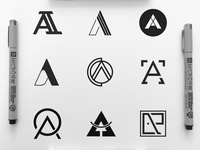 Collection of A based logo marks from 2017