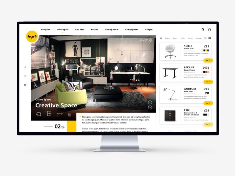 Furniture Shop For Creative Office
