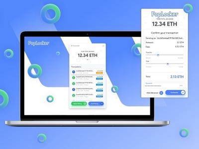 PopLocker an Ethereum DApp browser targeting mainstream adoption coinbase coins interaction poplocker dapps crypto wallet ethereum app ux ui
