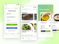 Food/ Recipe App Design