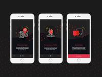 Fever App Onbording screens