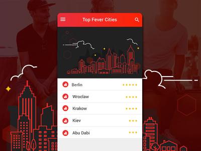 Fever App Top Cities List