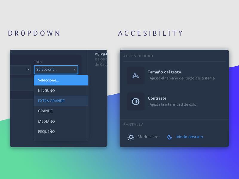 Options darkmode accessibility ui uxdesign webapp webdesign contador