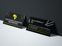 Southern Growth Properties Business Card Design