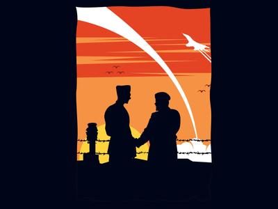 Military Sunset Illustration