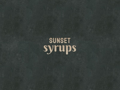 Logo Design // Sunset Syrups graphic design logotype minimal vector typography logo icon branding dailylogochallenge