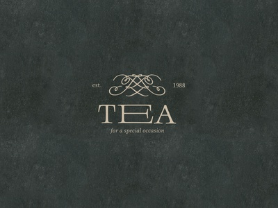 Logo Design // Tea icon minimal vector logotype graphic design design typography logo dailylogochallenge branding