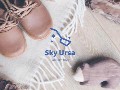 Logo Design // Sky Ursa vector logotype graphic design design typography minimal logo icon dailylogochallenge branding