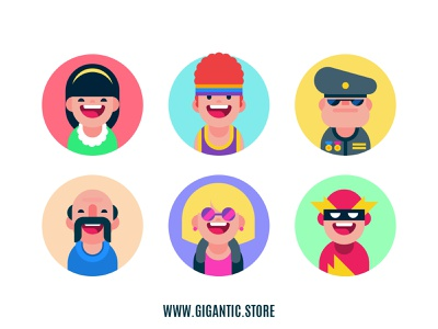 Flat Design Avatar Icons, Digital Art Characters flat illustration flat  design flat animation flat avatar flat art flat design flat illustration icon design iconography illustrator icon set icons icon avatar design avatardesign avatar icons avatars portrait avatar