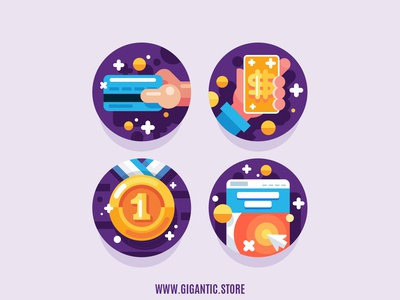 Flat Design Flat Design Business Icons Set Illustration