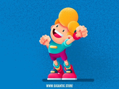 Flat Design Character Illustrations and Grainy Texture kids art character design characters graphic design brush pen brushes brush illustrator vector character flat design branding background back texture grain texture grains grainy grain gradient