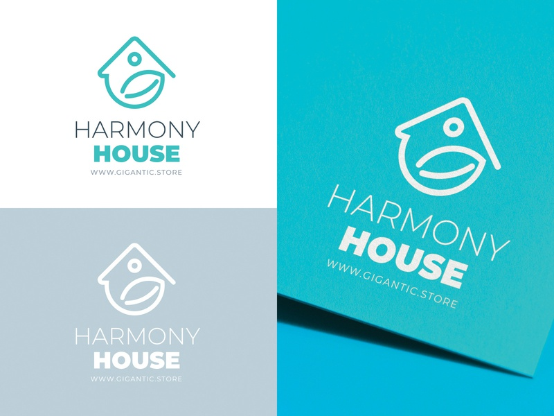 House and Leaf Logo Design Template For Your Brand nature graphic logo a day mark sign graphic design branding design brand identity brand designer brand design branding brand designer logo designer logo mark logodesign logo design logotype logos logo