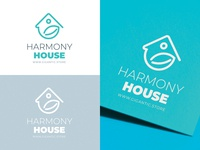 House and Leaf Logo Design Template For Your Brand