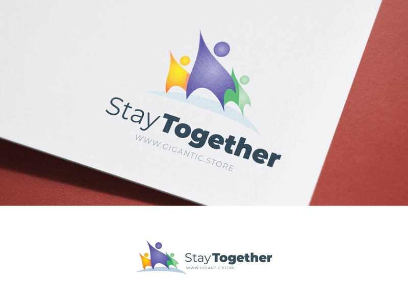 Stay Together, People Logo Design Template