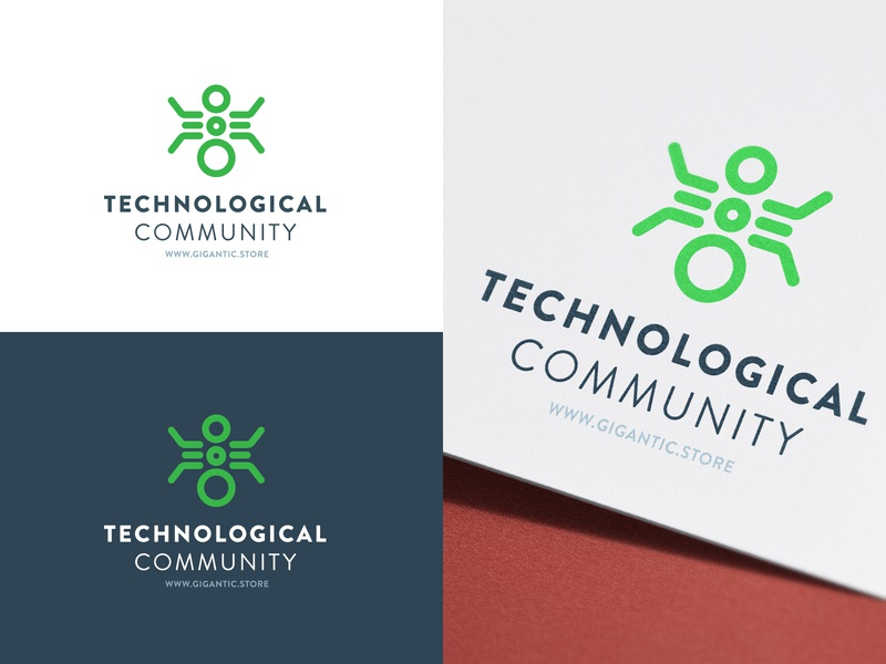 Technology Logo Design Template for Tech Community logo a day mark sign graphic design branding design brand identity brand designer brand design branding brand designer logo designer logo mark logodesign logo design logotype logos logo