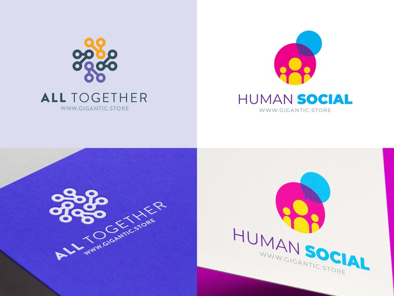 Logo Design Template for Community, People and Tech logo a day mark sign graphic design branding design brand identity brand designer brand design branding brand designer logo designer logo mark logodesign logo design logotype logos logo