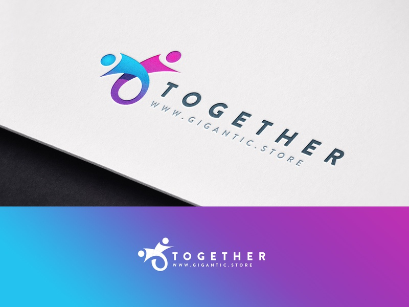 Logo Design Template for Community Brand, All Together logo a day mark sign graphic design branding design brand identity brand designer brand design branding brand designer logo designer logo mark logodesign logo design logotype logos logo