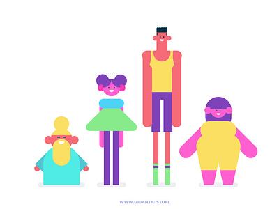 Simple Flat Design Characters vector art drawing character design vector flat cartoon design illustration character flat design