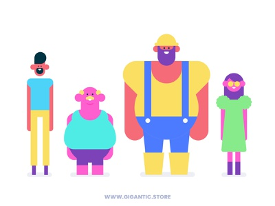 Flat Design Characters From Simple Geometric Forms geometic geometric design geometric art geometry character animation character design characters character avatars avatar vectors vector