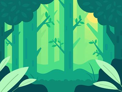 Vector Flat Design Art, Forest Landscape Background Design forests wall art wallpaper backgrounds background landscape illustration landscape design landscapes landscape illustration drawing design ast vector flat natural nature woods wood forest