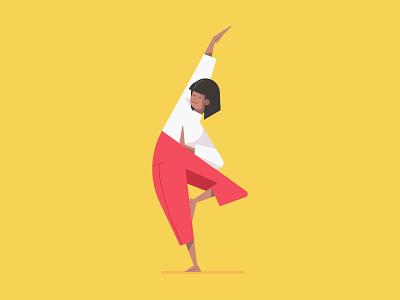 Flat woman vector character illustration in yoga meditation pose illustration art image hero ux ui drawing illustrations simple flat art design illustrator poses pose meditation yoga girl female woman illustration