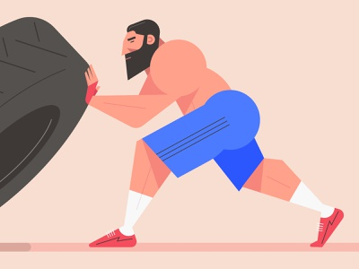 Strong Sport Man Flat Design Character Illustration Art flat design cartoon design art mark rise man image illustrator drawing creative illustration strong gym sport avatars avatar people character design characters character