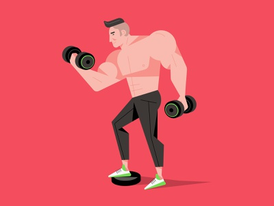 Flat Design Character Illustration, Vector Art gym illustration art hero image ux ui image hero web mark rise illustrations man drawing character design vector flat cartoon design illustration character flat design