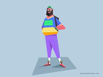 Flat Design Vector Character illustration in Adobe Illustrator vector simple modern minimal illustrator illustration graphic design flat drawing digital design creative clean character branding art abstract 2d