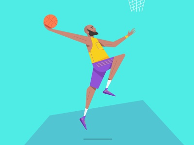 Minimal Vector Character Illustration, Basketball Player basket mark rise vector simple modern minimal illustrator illustration graphic design flat drawing digital design creative clean character branding art abstract 2d