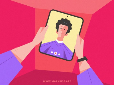 Flat Design Character Holding The Tablet, Portrait - Avatar clean flat design draw drawing illustration illustraion illustrator character design character self-portrait self portrait selfportrait selfie portrait illustration portrait art portrait avatar design avatardesign avatars avatar