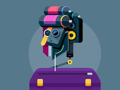 Clean Vector Character Design Illustration in Adobe Illustrator simple vector cartoon flat design illustration flat design character