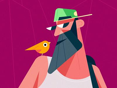Clean Vector Character Design Illustration in Adobe Illustrator modern simple branding vector cartoon flat design illustration flat design character
