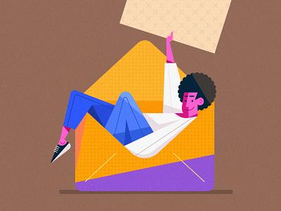 Clean Vector Character Design Illustration in Adobe Illustrator minimal ui branding logo vector cartoon flat design illustration flat design character