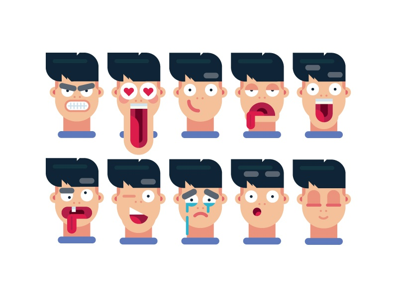 Learn how to draw 10 FACIAL EXPRESSIONS drawing tutorial draw emoji emotions man face expressions facial