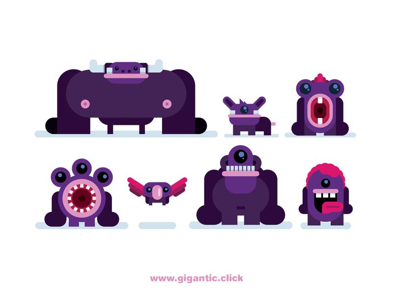 Cute Monsters tutorial gigantic speed drawing game character alien cute monsters