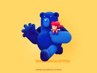 Bear And Girl ( Gigantic Brushes )
