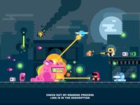 Flat Design GAME DESIGN Illustration