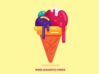 Flat Design Ice Cream Illustration